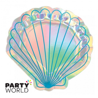 Mermaid Wishes Shell Iridescent Plates (8)