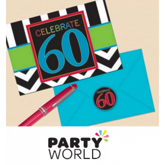 60th Birthday Celebration Postcard Invitations (8)