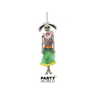 Day Of The Dead Hanging Female Skeleton 40cm