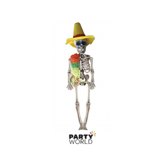 Day Of The Dead Hanging Male Skeleton 40cm