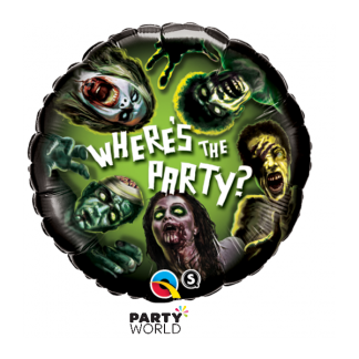 Zombie - Where's The Party? Foil Balloon