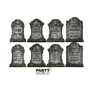 Tombstone Cardboard Cutouts 16in (4)