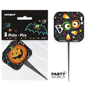 Halloween Cupcake Picks Assorted (8)