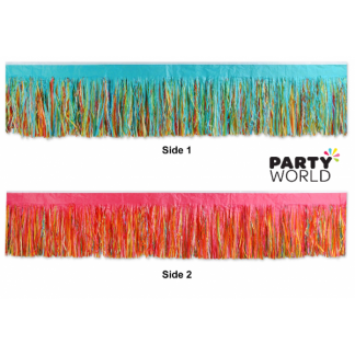 Multicolour Tissue Fringe Drape 10 ft x 15 in