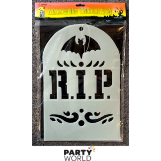 Halloween RIP Tombstone Glow In The Dark Decoration
