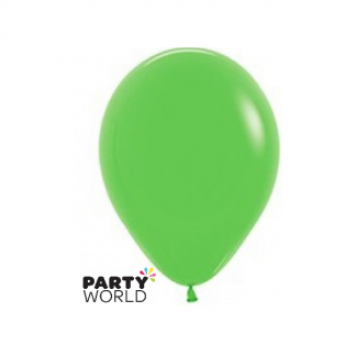 "Sempertex Solid Colour 18""45cm Latex Lime Green Balloon"