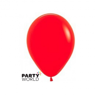 "Sempertex Solid Colour 18""/45cm Red Latex Balloon"