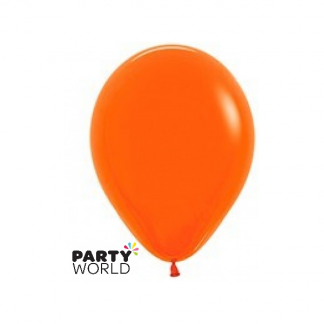 "Sempertex Solid Colour 18""/45cm Orange Latex Balloon"