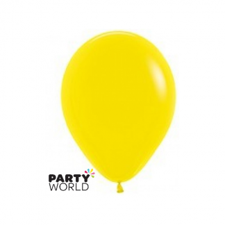 "Sempertex Solid Colour 45cm/18"" Yellow Latex Balloon"