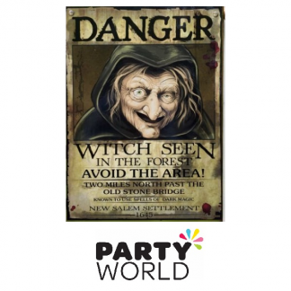 Witch Danger Sign / Poster