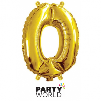 Gold Foil Number Balloon 14in - 0