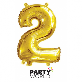 Gold Foil Number Balloon 14in - 2