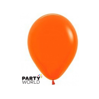 "Sempertex Solid Colour 15"" Orange Latex Balloon"