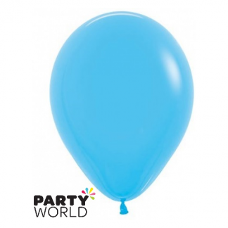 "Sempertex Solid Colour 15"" Blue Latex Balloon"