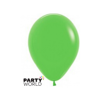 "Sempertex Solid Colour 15"" Lime Green Latex Balloon"