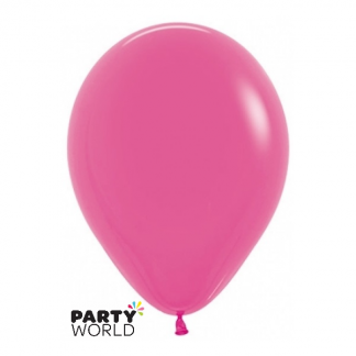 "Sempertex Solid Colour 15"" Fuschia Latex Balloon"