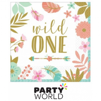 Boho Wild One Luncheon Napkins (16)