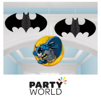Batman Honeycomb Decorations (3)
