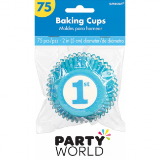 1st Birthday Blue Baking Cups (75)