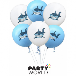 Shark Assorted Latex Balloons (6)