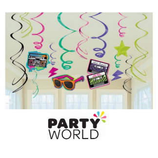 Totally 80s Swirl Decorations Value Pack