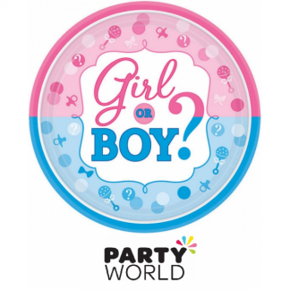 Girl Or Boy 7inch Round Paper Plates (8)
