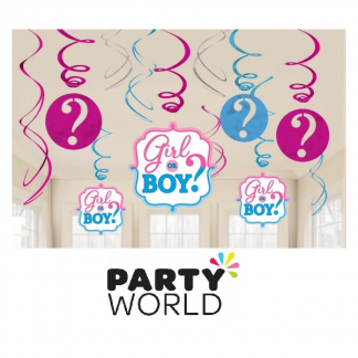 Girl Or Boy Swirl Decorations Value Pack