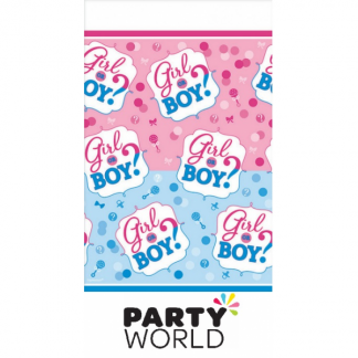 Girl Or Boy Plastic Tablecover