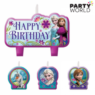 Frozen Birthday Candle Set (4pc)