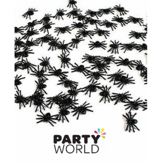 Mini Plastic Spiders (50)