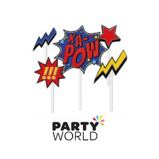 Superhero Super Size Party Cake Toppers /(5)