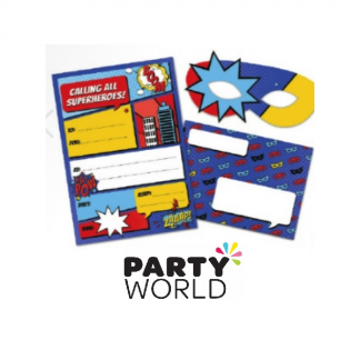Superhero Party Invitations With Masks (8)
