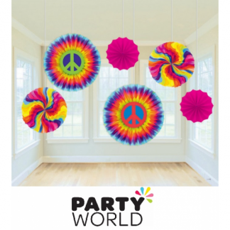 Feeling Groovy Paper Fan Decorations