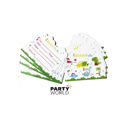Dinosaur Invitation Cards (10)