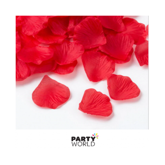 Artificial Silk Rose Petal Scatters - Red (*100)