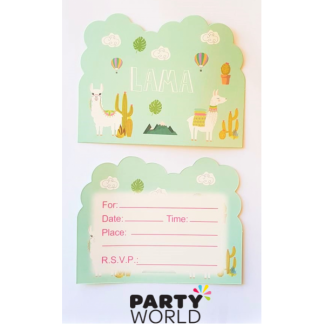 Lama Party Invitations (8)