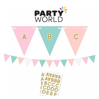 Pastel Customisable Pennant Bunting Banner