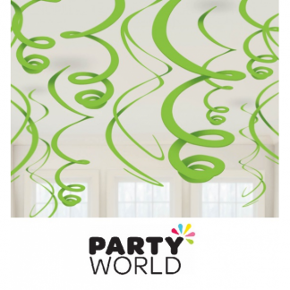 Swirls Lime Green Decorations (12)