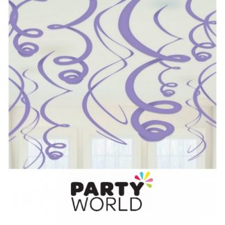 Swirls New Purple Decorations (12)
