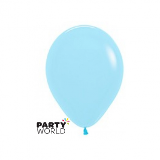 Sempertex 5inch (/12cm) Pastel Matte Blue Round Latex Mini Balloons (10)