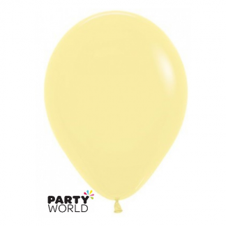 Sempertex 5inch(12cm) Fashion Pastel Yellow Round Latex Mini Balloons (10)