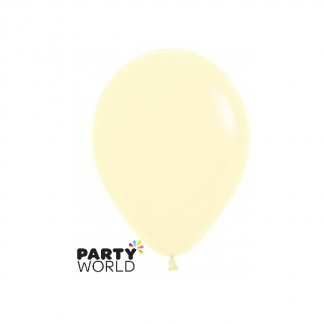 Sempertex 5inch (12cm) Pastel Matte Yellow Round Latex Mini Balloons (10)