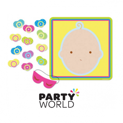 Baby Shower Pin The Pacifier Party Game