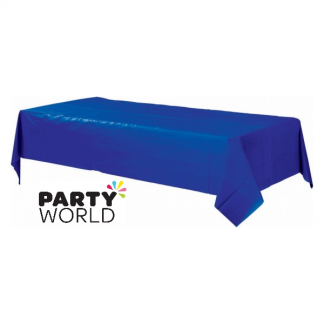 Rectangular Royal Blue Plastic Table Cover