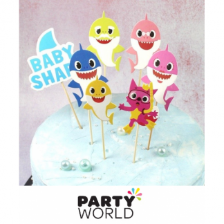 Baby Shark Party Cake Toppers