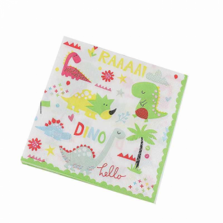 Hello Dino Party Paper Luncheon Napkins (12)