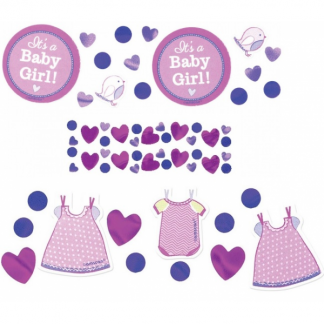 Baby Shower Its A Baby Girl Confetti