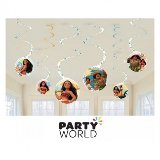 Moana Party Spiral Decorations
