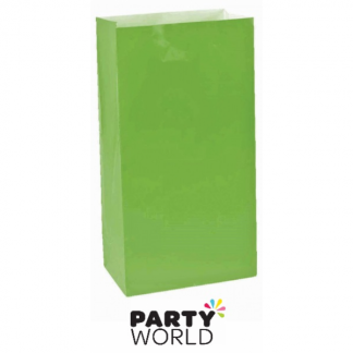 Large Paper Treat Bags - Kiwi Green (12)
