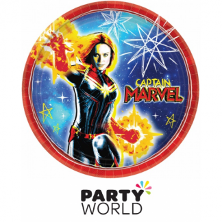 Captain Marvel Paper 9inch Plates (8)
